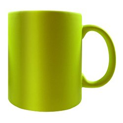 fluro yellow 11oz mug