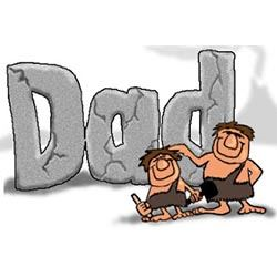 Stone Age Dad Fathers Day Design
