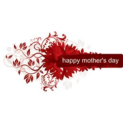 Mothers Day Red Floral,