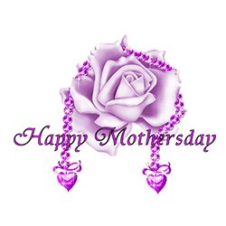 Mothers Day Jewels,Mothers Day Purple Rose With Jewels,