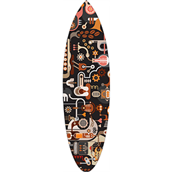 Bits N Pieces Surfboard Decal,