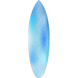Blue Blur Coloured White Pattern Surfboard Decal,