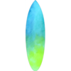 Blue Green Coloured Surfboard Decal,