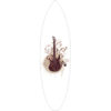 Floral Guitar Surfboard Decal,