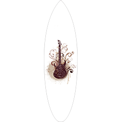 Floral Guitar Surfboard Decal