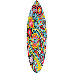 Coloured Paisley Surfboard Decal