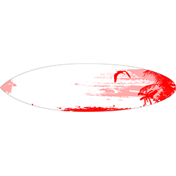 Red Surf Surfboard Decal