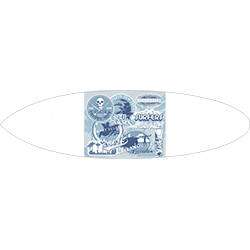 Retro Surf Classic Surfboard Decal